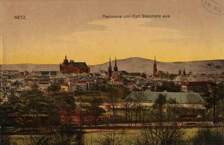 Metz. Panorama von Fort Steinmetz aus