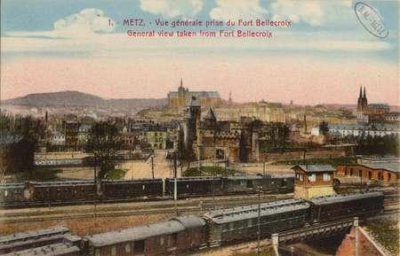 Metz. Vue générale prise du Fort Bellecroix