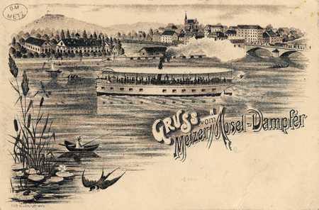 Gruss vom Metzer Mosel-Dampfer
