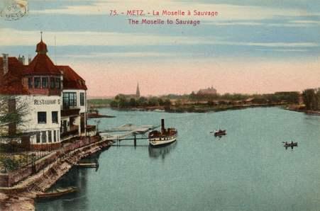 Metz. La Moselle à Sauvage