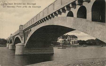 Die neue Brücke bei Sauvage. Le nouveau Pont près de Sauvage