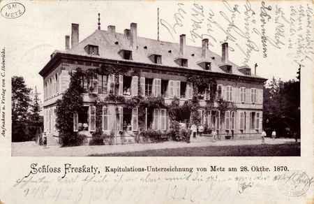 Schloss Frescaty, Kapitulations-Unterzeichnung von Metz am 28. Oktbr. 1870.
