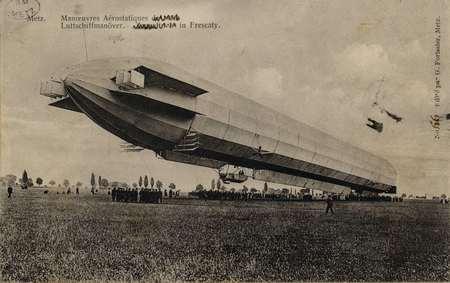 Manœuvres Aérostatiques…Luttschiffmanöver. Zeppelin I in Frescaty