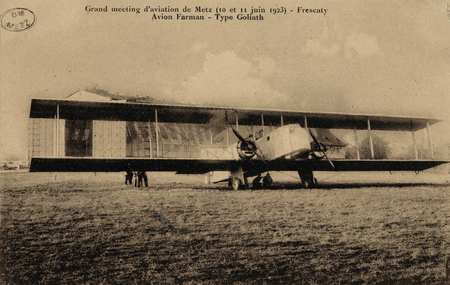 Grand meeting d'aviation de Metz (10 et 11 juin 1923)- Frescaty Avion Farm…