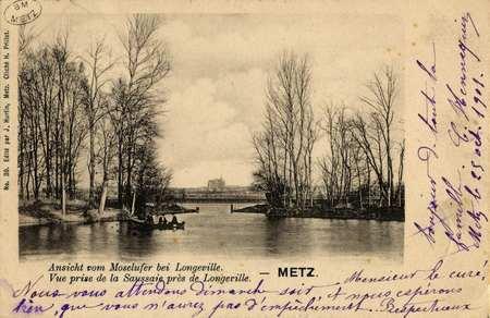 Vue prise de la Saussaie près de Longeville- Metz