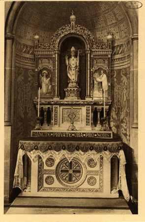 Montigny-les-Metz. Église. - Autel de Saint Privat, second Patron