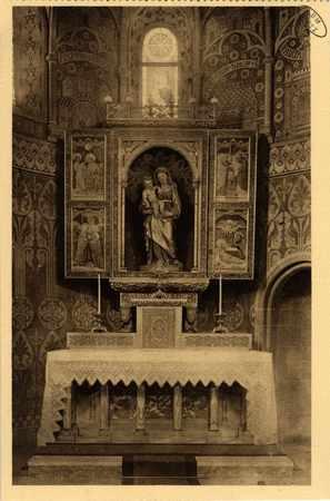 Montigny-les-Metz. Église. - Autel de la Vierge - Statue du XVIIIe siècle