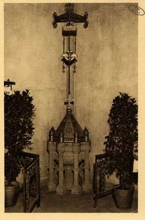 Montigny-les-Metz. Église. - Les Fonds baptismaux