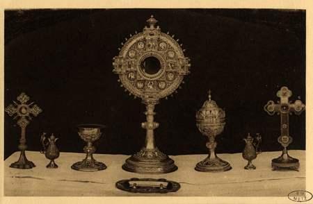 Montigny-les-Metz. Église. - Quelques Vases sacrés et Reliquaires