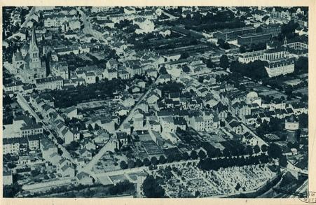 Montigny-les-Metz. Église. Vue plongeante . Petit Séminaire. Cimetière (50…