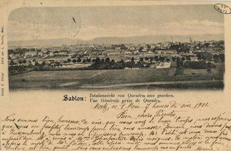 Sablon: Vue Générale prise de Queuleu