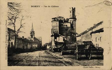 Borny. Vue du Château