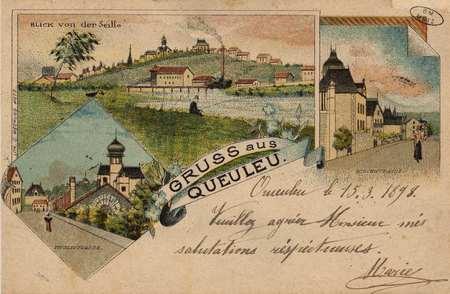 Gruss aus Queuleu. Blick von der Seille