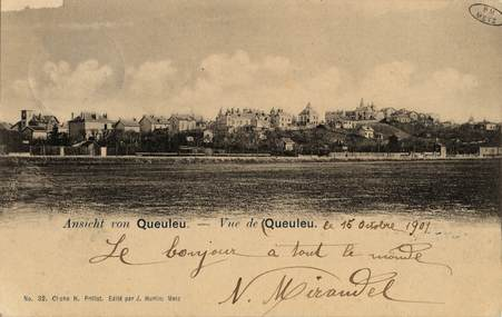 Ansicht von Queuleu. Vue de Queuleu