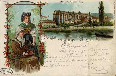 Gruss aus Jouy-Ars a.d. M. Römische Wasserleitung