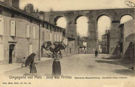 Umgegend von Metz-Jouy aux Arches. Römische Wasserleitung.- Conduite d'eau…