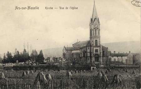Ars-sur-Moselle. Kirche- Vue de l'église