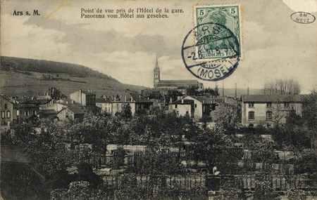 Ars-sur-Moselle. Point de vue pris l'Hôtel de la gare. Panorama vom Hôtel …