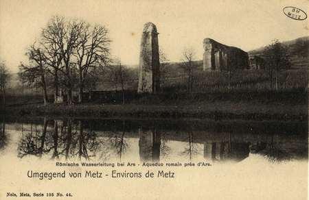 Umgegeng von Metz. Environs de Metz. Römische Wasserleitung bei Ars- Aqued…