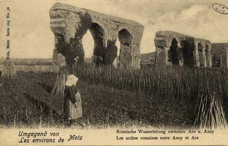 Umgegeng von Metz. Environs de Metz. Römische Wasserleitung zwischen Ars u…