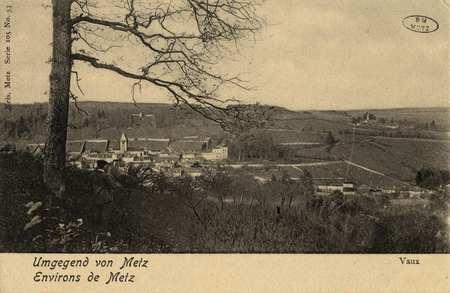 Umgegend von Metz- Environs de Metz. Vaux