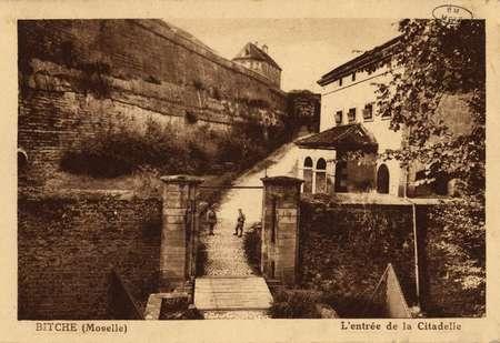 Bitche (Moselle). L'entrée de la Citadelle