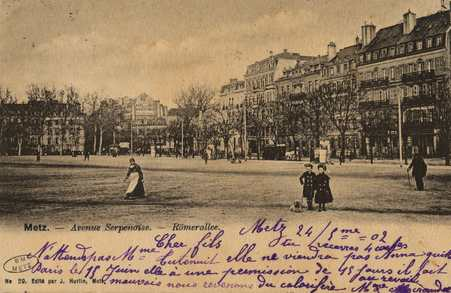 Metz - Avenue Serpenoise - Römerallee