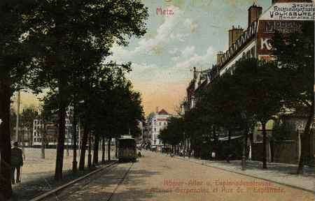 Römer-Allee u. Esplanadenstrasse. Avenue Serpenoise et Rue de l'Esplanade