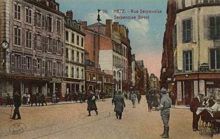 Metz. Rue Serpenoise. Serpenoise Street