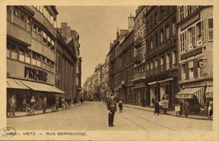Metz. Rue Serpenoise