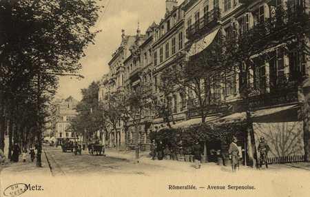 Römerallée. Avenue Serpenoise