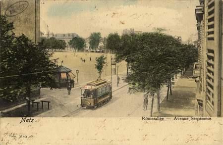 Metz Römerallée. Avenue Serpenoise