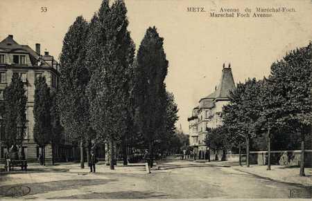 Metz. Avenue du Maréchal Foch. Marschal Foch Avenue