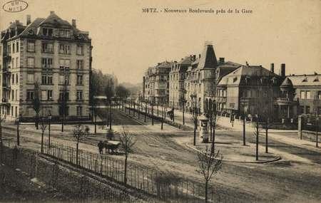 Metz. Nouveaux Boulevards près de la Gare