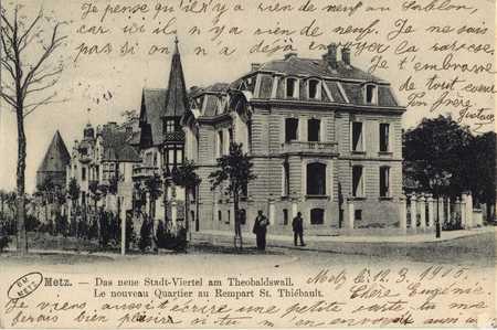 Metz. Das Neue Stadt-Viertel am Theobaldswall.. Le Nouveau quartier au rem…