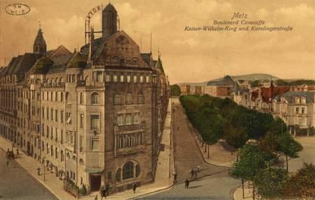 Metz. Boulevard Camoufle. Kaiser Wilhelm Ring und Karolingerstrasse