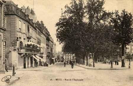 Metz. Rue de l'Esplanade