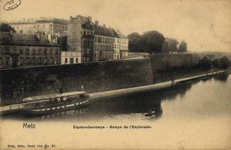 Metz. Esplanadenrampe- rampe de l'Esplanade