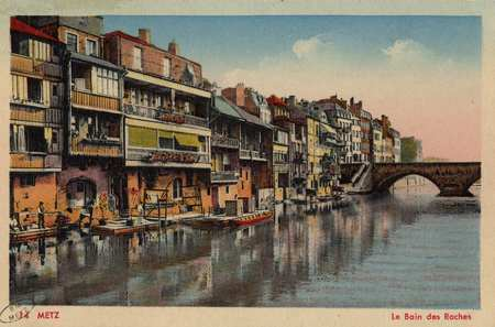 Metz. Le bain des Roches