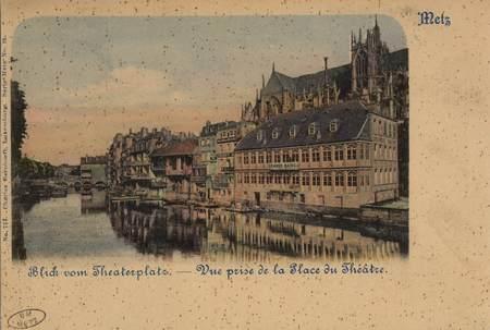 Metz Blick vom Theaterplatz.- Vue prise de la Place du Théatre.