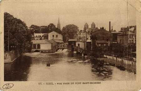 Metz. Vue prise du Pont Saint Georges.