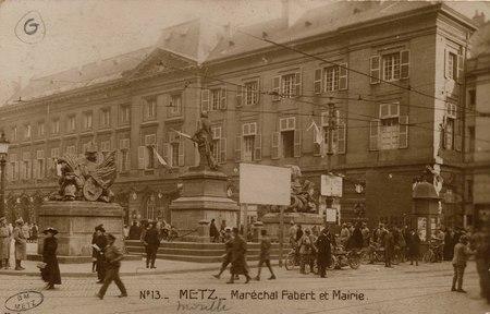 Metz. Maréchal fabert et Mairie