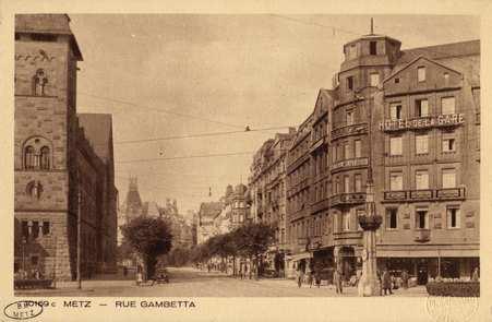Metz. Rue Gambetta