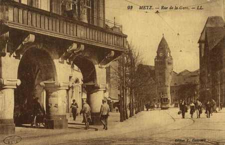 Metz. Rue de la Gare