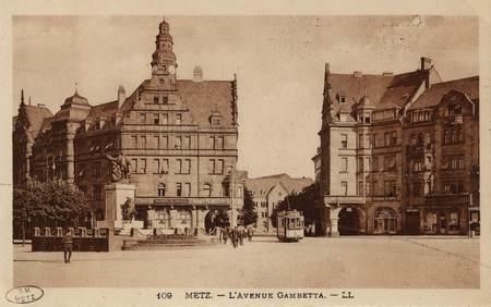 Metz. L'Avenue Gambetta