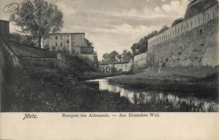 Metz. Rempart des Allemands. Am Deutschen Wall