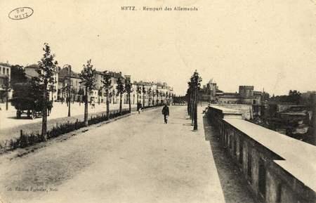 Metz. Rempart des Allemands