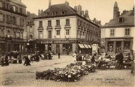 Metz. Marché  aux Fleurs. Flower Market