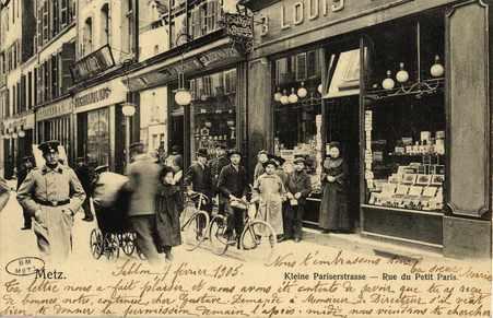 Metz. Kleine Pariserstrasse. Rue du Petit Paris
