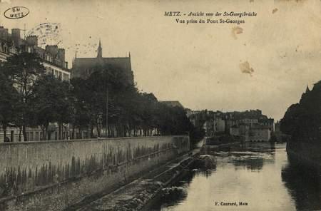 Metz. Ansicht von der St-Georgsbrücke. Vue prise du pont St-Georges